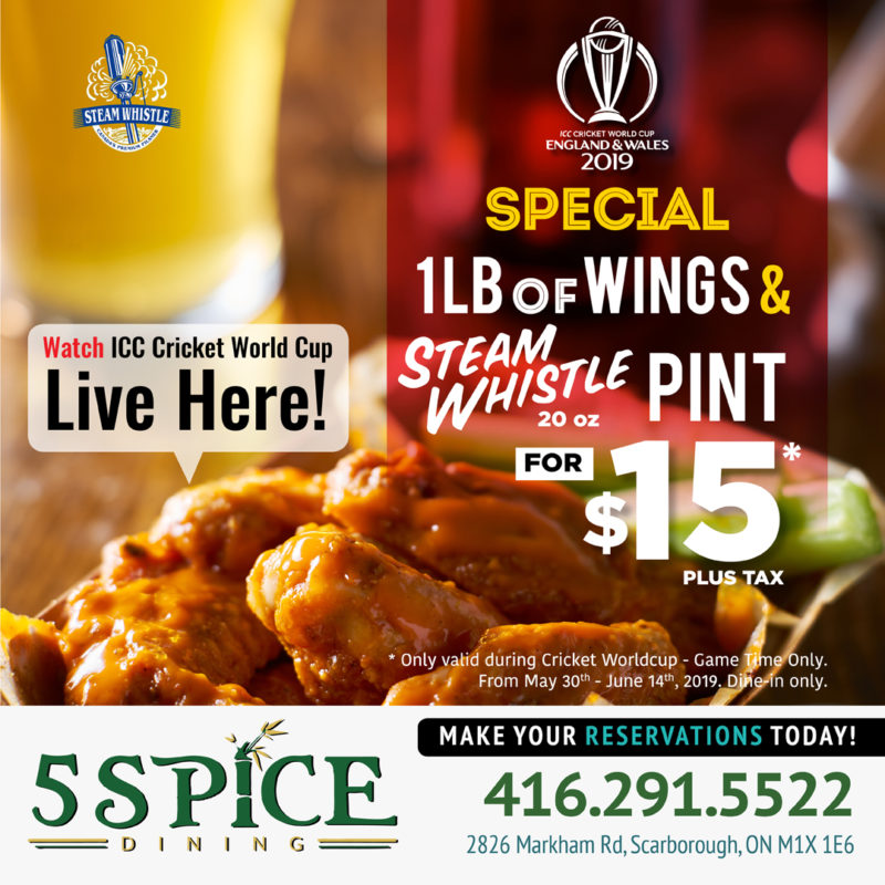 5 Spice Dining – Special